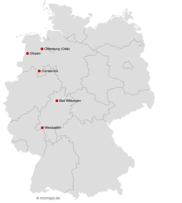 Oldenburg Bad Wildungen Osnabruck Dorpen Und Wiesbaden Auf Der