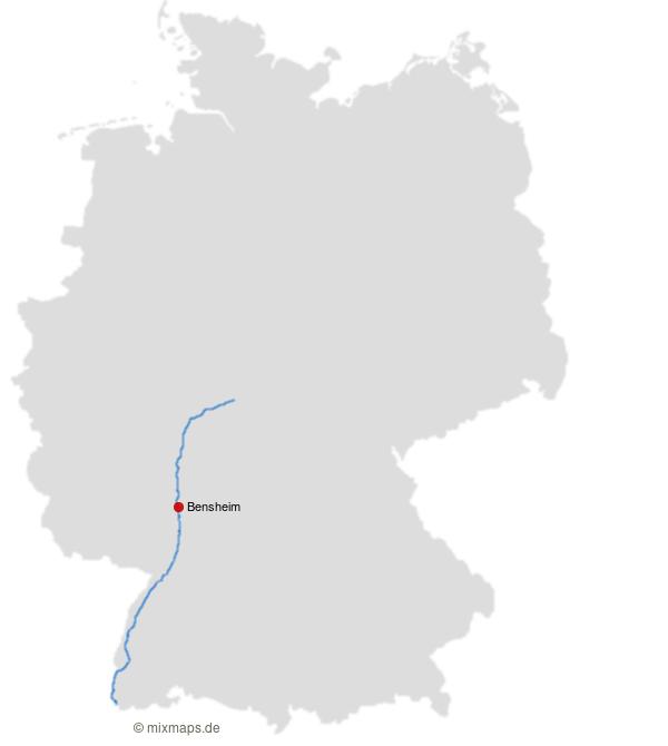 Bensheim An Der Autobahn A5 Deutschlandkarte Mit Autobahnnetz