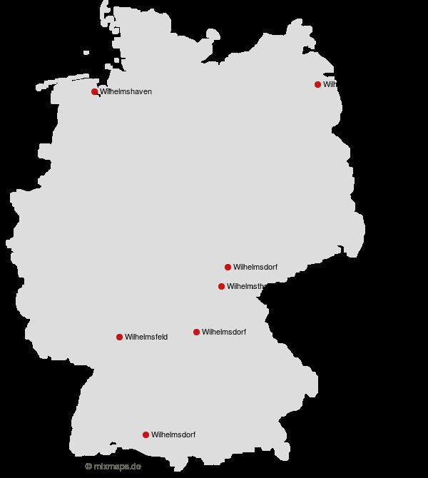 Stadte Und Gemeinden Die Mit Wilhelm Beginnen Orte Auf Der