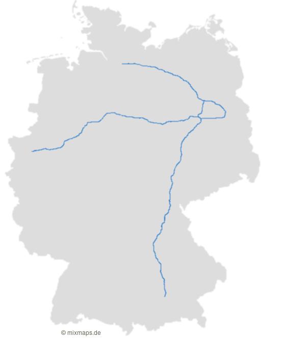 Die Autobahnen A2 A9 A24 Und A10 Berliner Ring Auf Der