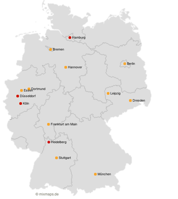 Koln Hamburg Dusseldorf Heidelberg Und Berlin Munchen Auf Der