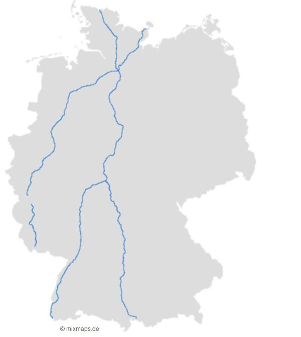 Die Autobahnen A1 A5 Und A7 Auf Der Deutschlandkarte