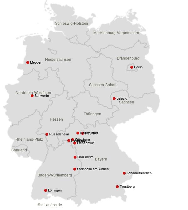 Loffingen Wurzburg Schweinfurt Berlin Johanniskirchen Und