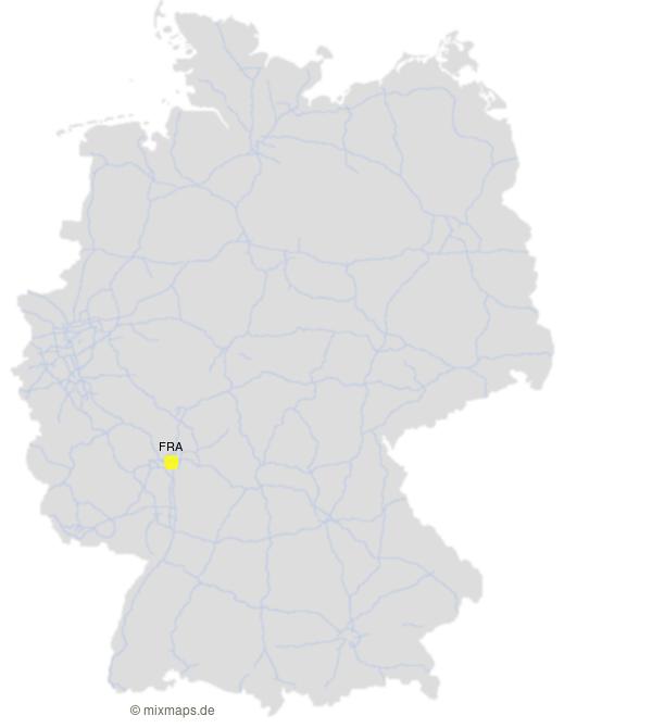 Flughäfen Deutschland Karte.Der Frankfurter Flughafen Auf Der Autobahnkarte Kostenlose