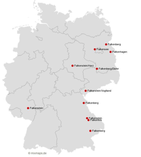 Stadte Und Gemeinden Die Mit Falk Beginnen Orte Auf Der