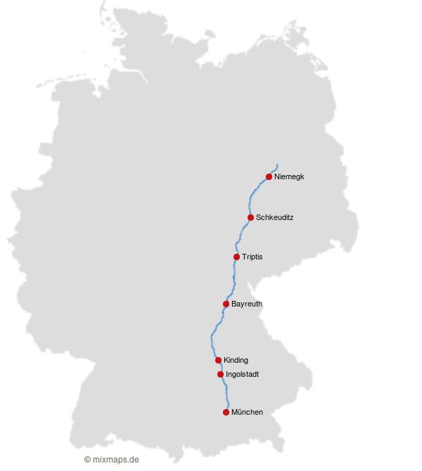 Niemegk Schkeuditz Triptis Bayreuth Kinding Ingolstadt