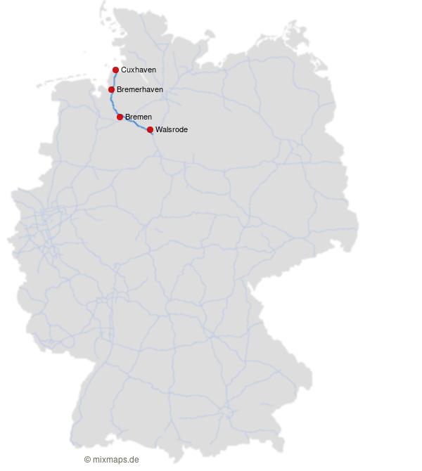 Cuxhaven Bremerhaven Bremen Und Walsrode An Der A27